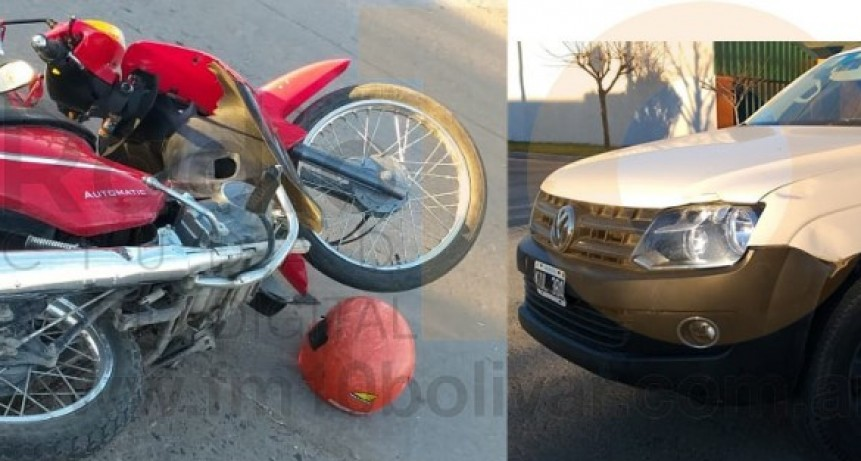 Accidente en Av. 9 de Julio y prolongación Belgrano dejó como saldo una motociclista hospitalizada
