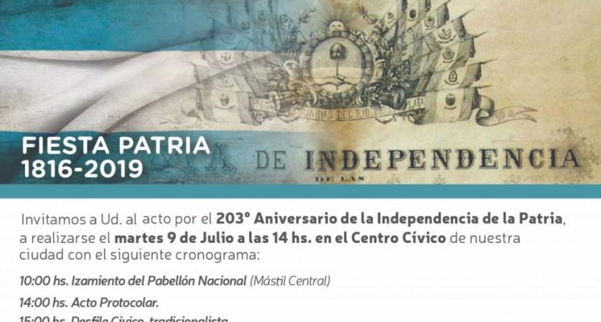 La Municipalidad celebrará el Día de la Independencia en el Centro Cívico