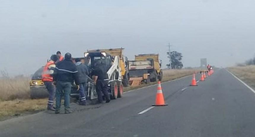 Vialidad Provincial realiza los arreglos de la zona de riesgo de la Ruta 65