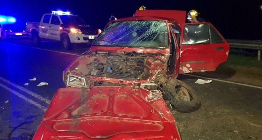 Roque Pérez; un conductor de Saladillo resultó herido en una violenta colisión