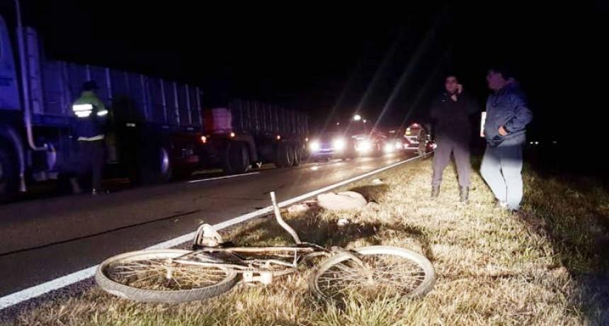 Saladillo: Colisión en la ruta 205; Un ciclista herido de gravedad