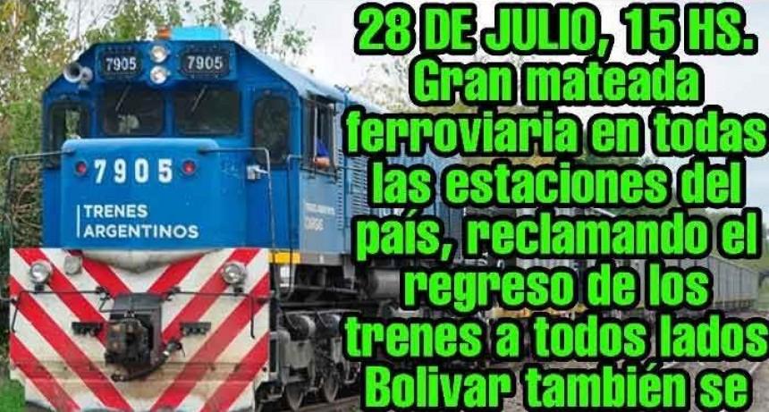 Gran mateada ferroviaria por el regreso del tren a Bolívar