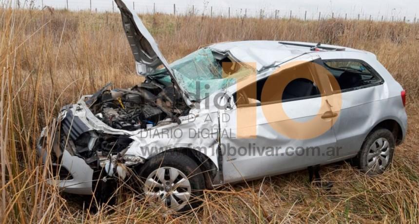 Ruta 205: Despiste y vuelco con heridos