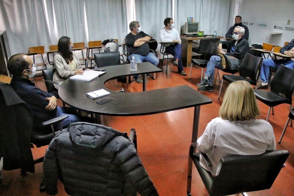 Con el objetivo de seguir cuidando a los bolivarenses, Marcos Pisano se reunió con el Comité Sanitario