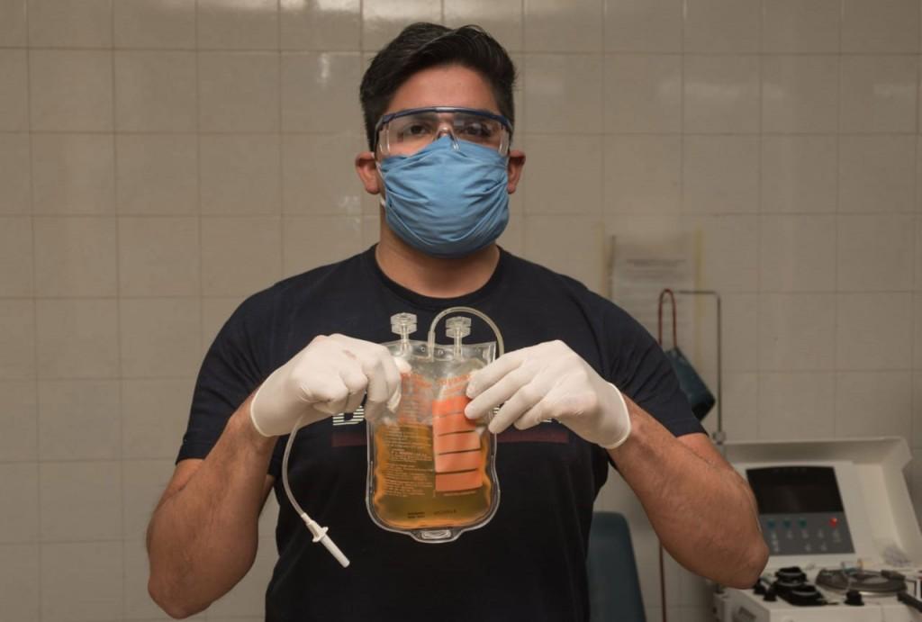 Facundo Ahumada; 'Es importante que quienes se recuperen y puedan donar lo hagan porque hoy es la única esperanza de quienes contraen el virus'