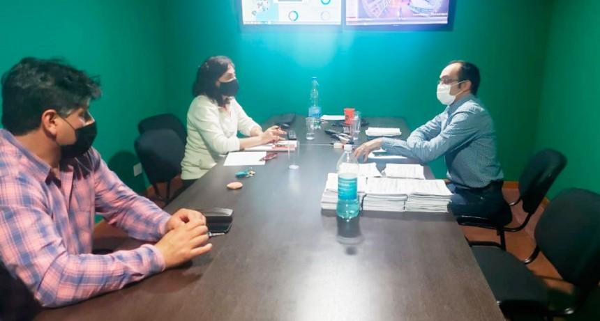 El intendente Pisano y su equipo trabajan en la trazabilidad epidemiológica del primer caso positivo