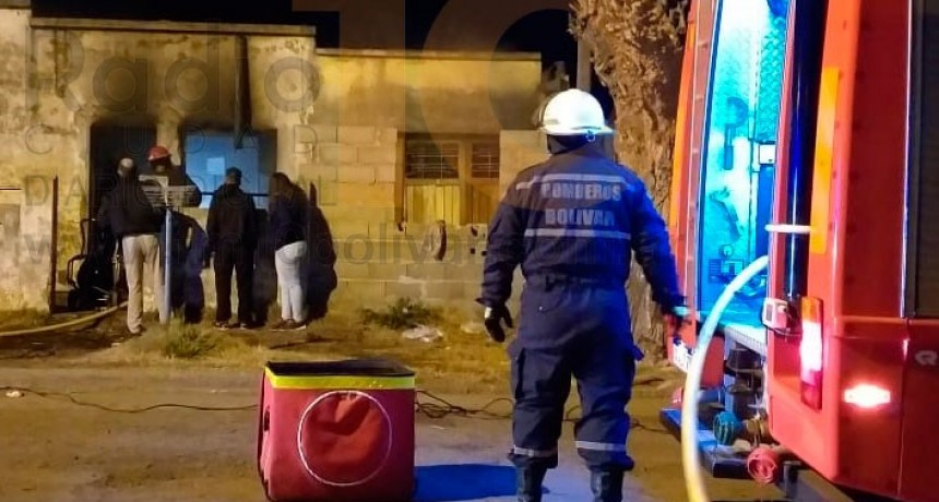Barrio Colombo: Incendio generalizado en una vivienda