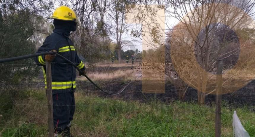 Incendio en un terreno de calle Natiello, detrás del hospital