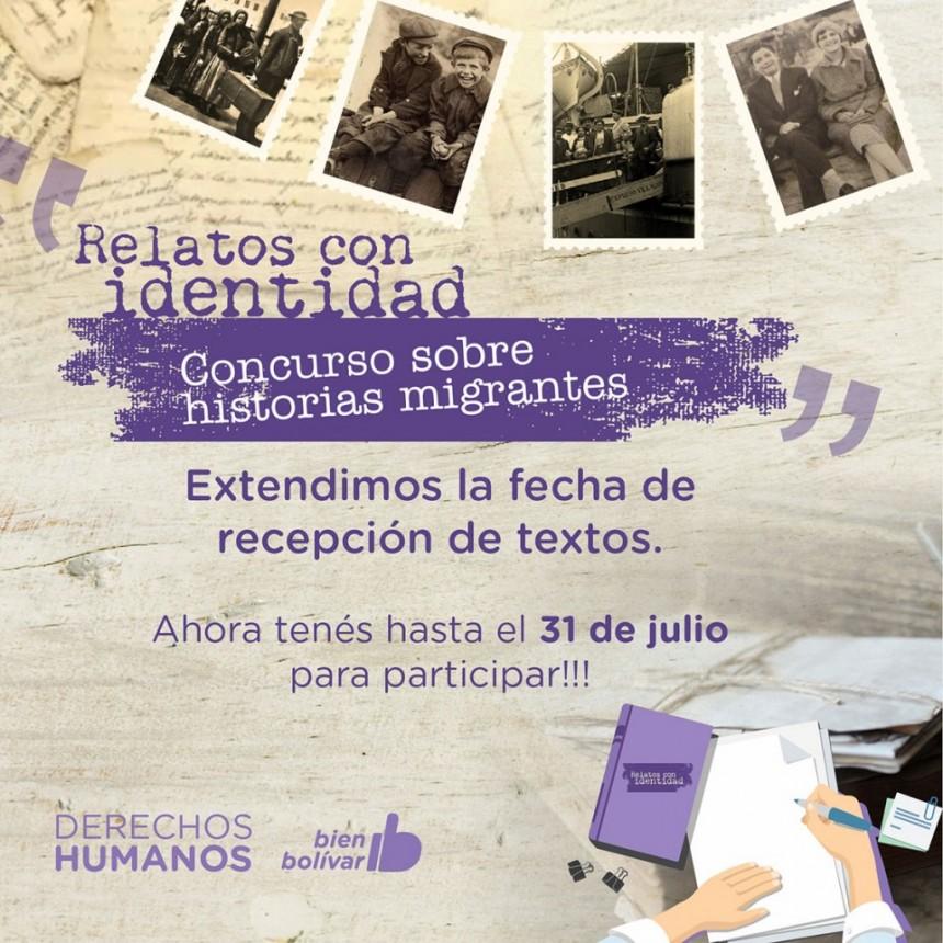 Relatos con identidad: se extiende la fecha de presentación de textos hasta el 31 de julio
