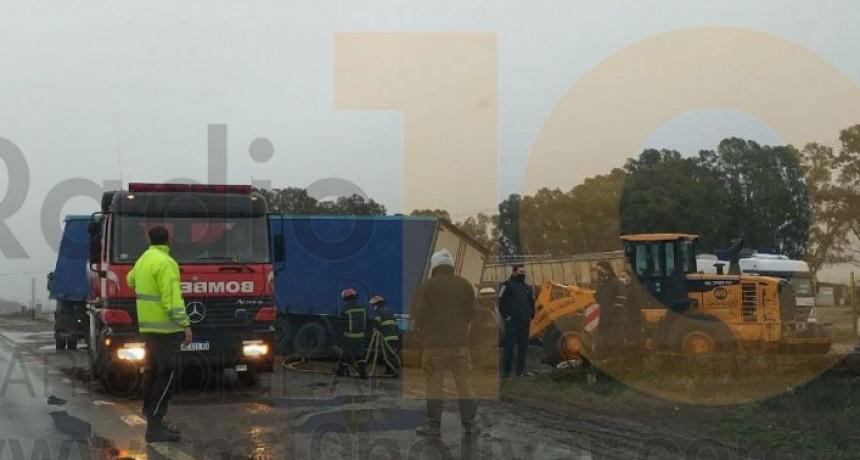 Despistó un camión en Ruta 65; sin mayores consecuencias