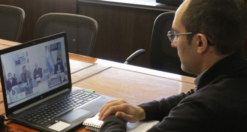 Pisano participó de la reunión virtual donde se anunció la puesta en marcha de obras de agua y saneamiento