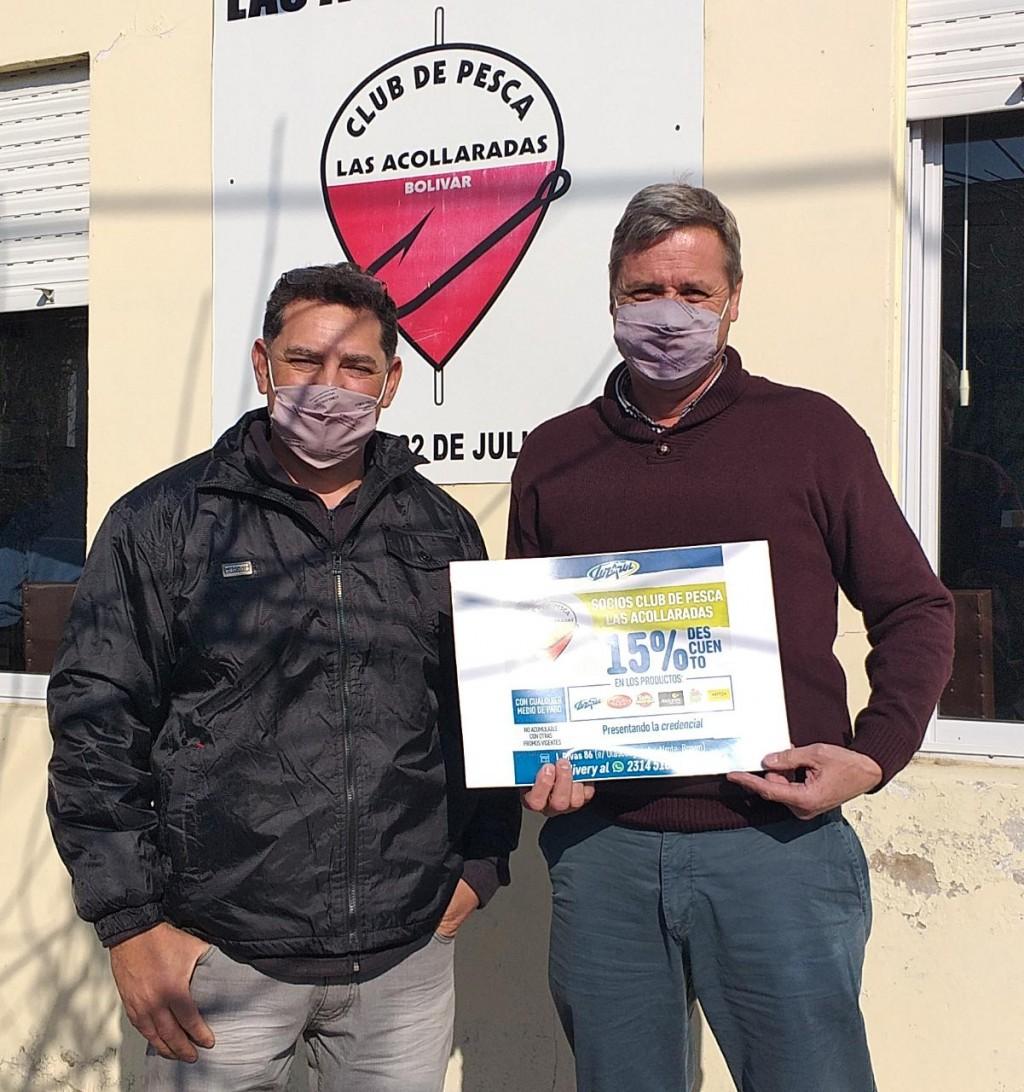 Lácteos Luz Azul formalizó un convenio con el Club de Pesca Las Acollaradas