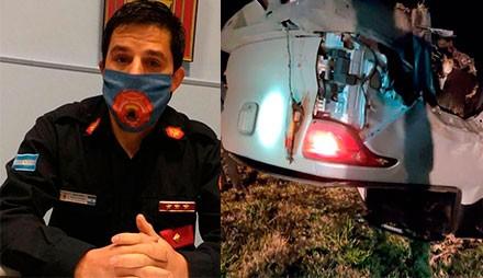 Ruta 226: Dos vehículos involucrados en un accidente y hablamos con Franco Rojas (Bombero Voluntario)