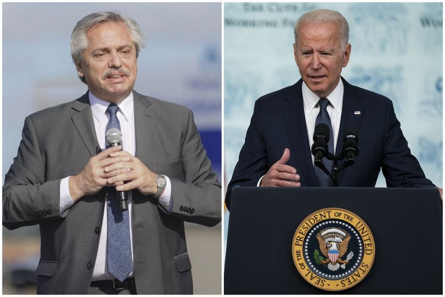 El presidente Fernández agradeció a su par Joe Biden por la donación de 3.5 millones de vacunas