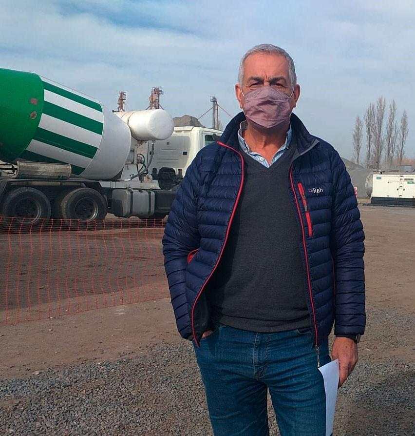 """Nelson Dávila: """"Tenemos que finalizar la obra en un año y hasta el momento vamos dentro del plan de trabajo previsto, son tres tramos para repavimentar la ruta 65"""""""