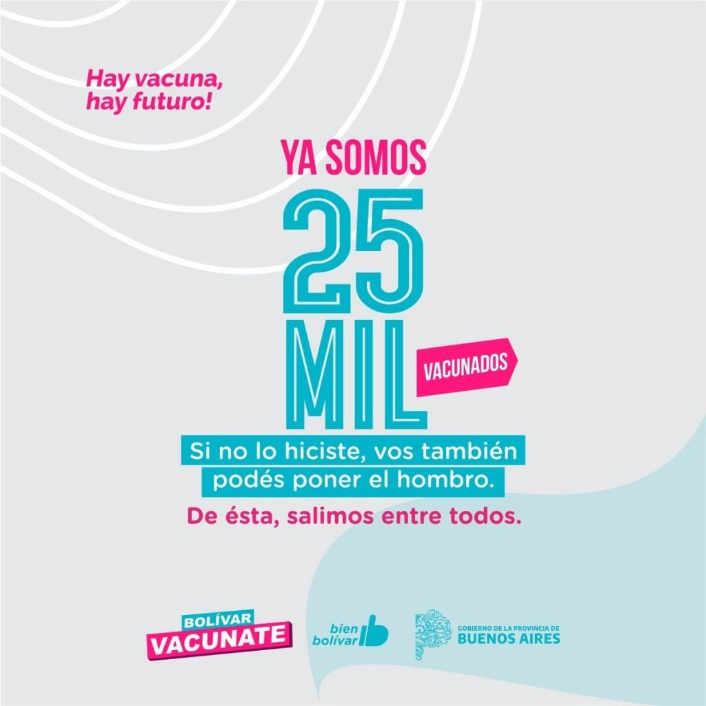 Bolívar superó los 25 mil vacunados