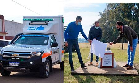 El Intendente Pisano entregó una ambulancia 4x4 para la localidad de Hale