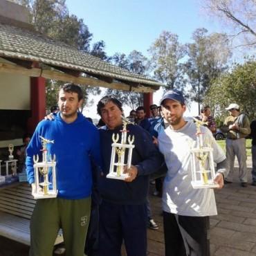 Jorge Arancibia, Gustavo Zappettini y Daniel Burgos, se quedaron con el torneo de pesca