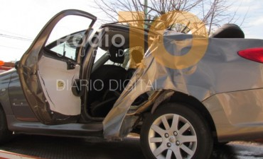 Violento impacto en Ruta 226