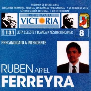 Ariel Ferreyra también ya cuenta con su boleta para estas PASO
