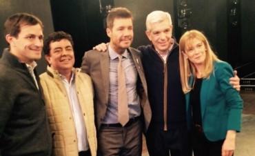 Bucca se hizo presente en 'ShowMatch', acompañando a Julián Domínguez