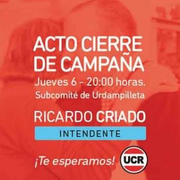 Ricardo Criado cierra su campaña en Urdampilleta