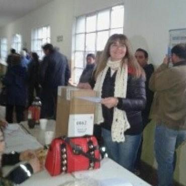 Votó Sandra Santos