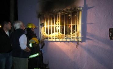 Incendio en una vivienda de barrio Pompeya