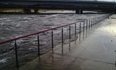 Olavarría: Sube el nivel del arroyo Tapalqué