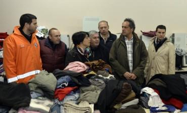 Inundaciones: Scioli visitó Salto