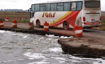 Cortaron ruta Provincial 65 entre 9 de Julio y Junín (Nota con Video)