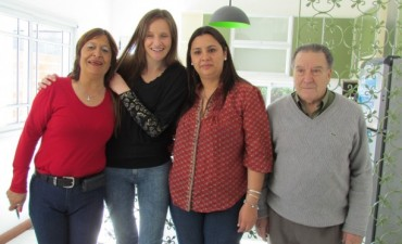 La urdampilletense Celeste Ércoli, se llevó la casa de la rifa de 'las cuatro instituciones'