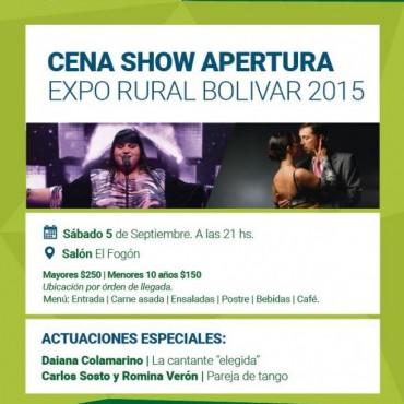 La cena apertura de la Expo 2015 tendrá como artista a Daiana Colamarino