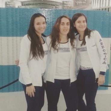 Campeonato Internacional de Gimnasia Aeróbica: Clara Pezzali, Melina González y Manuela Alessandroni representan a Bolívar