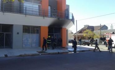 Incendio en un departamento de calle Laprida