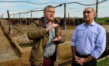 El Vicegobernador de Buenos Aires visito el establecimiento rural que produce mediante el biogas, energia electrica