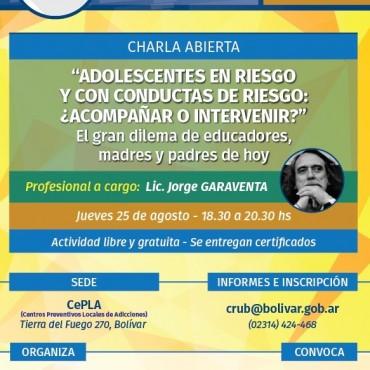 Se realizará una charla abierta en el CePLa a cargo del Licenciado Garaventa