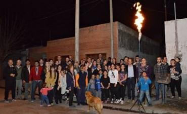 'Gas Contínuo': Pisano inauguró el gas en barrios Colombo y San Juan