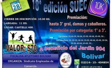 Este domingo se corre los 10K de la Maratón de la SUEC a beneficio del Jardín Nº904