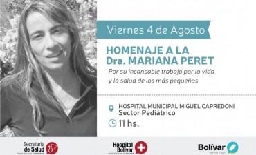 Este viernes el Hospital de Bolívar le rinde homenaje a la pediatra Mariana Peret