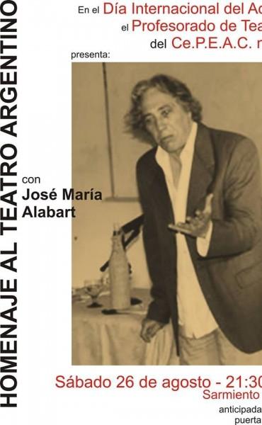HOMENAJE AL TEATRO ARGENTINO: Con José María Alabart a beneficio del CEPEAC N°1 de Bolívar