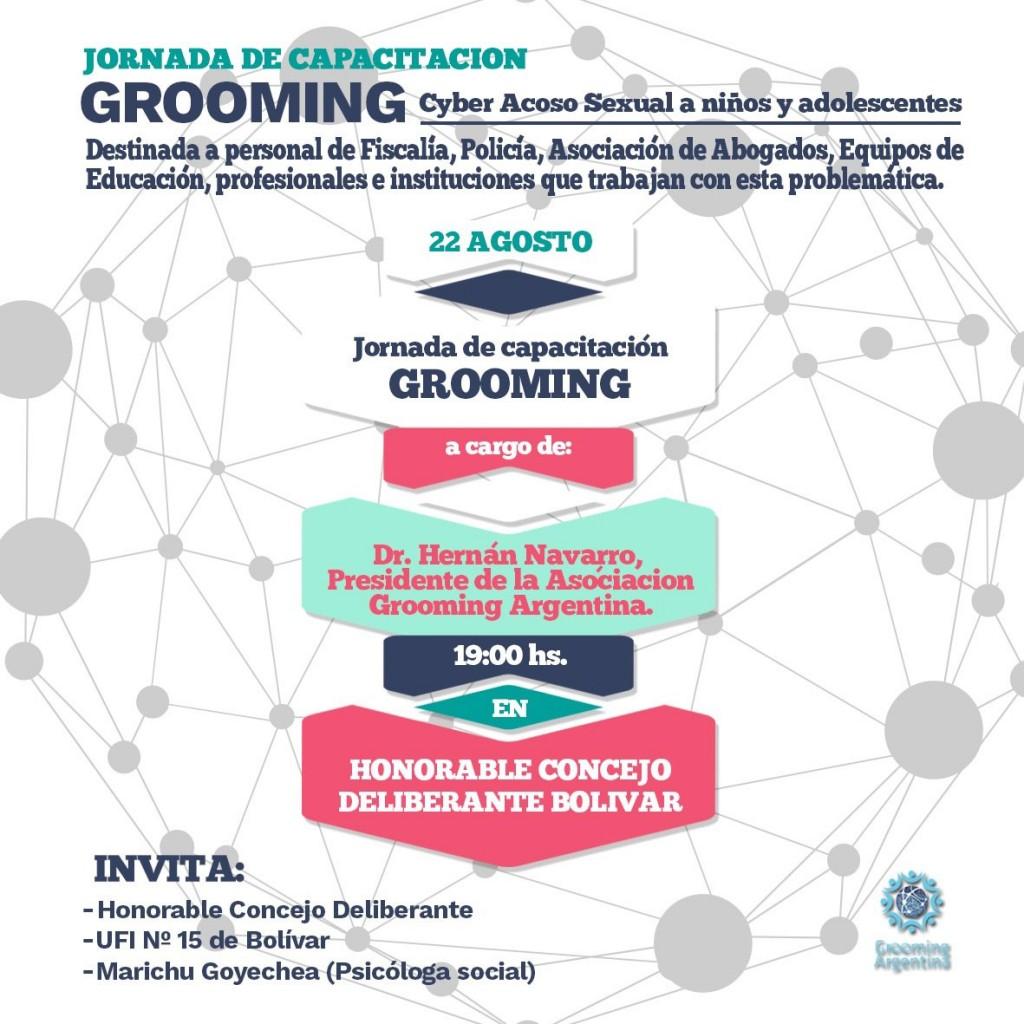 Charla sobre grooming: acoso sexual virtual a niños y adolescentes