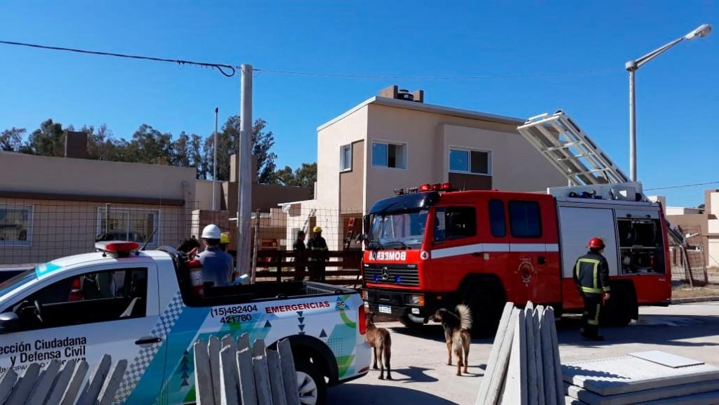 Principio de incendio en el Barrio 181 viviendas