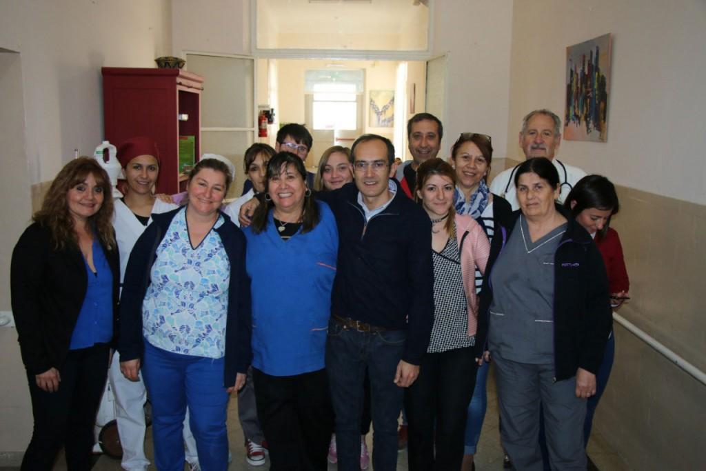 El intendente Pisano visitó a los Adultos Mayores de Casa Hogar