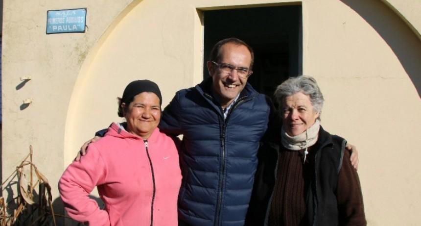 El intendente Pisano recorrió obras en Paula y dialogó con vecinos