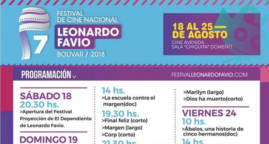 Comienza la 7º edición del Festival de Cine Nacional Leonardo Favio