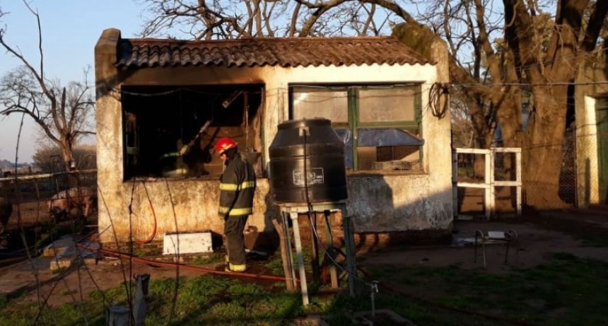 Incendio sin consecuencias en la Escuela de Educación Agraria N.º 1