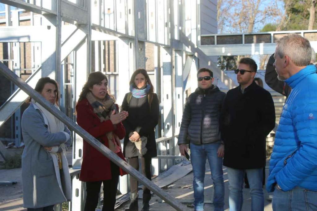 Empresas constructoras recorrieron la obra del jardín N.° 905