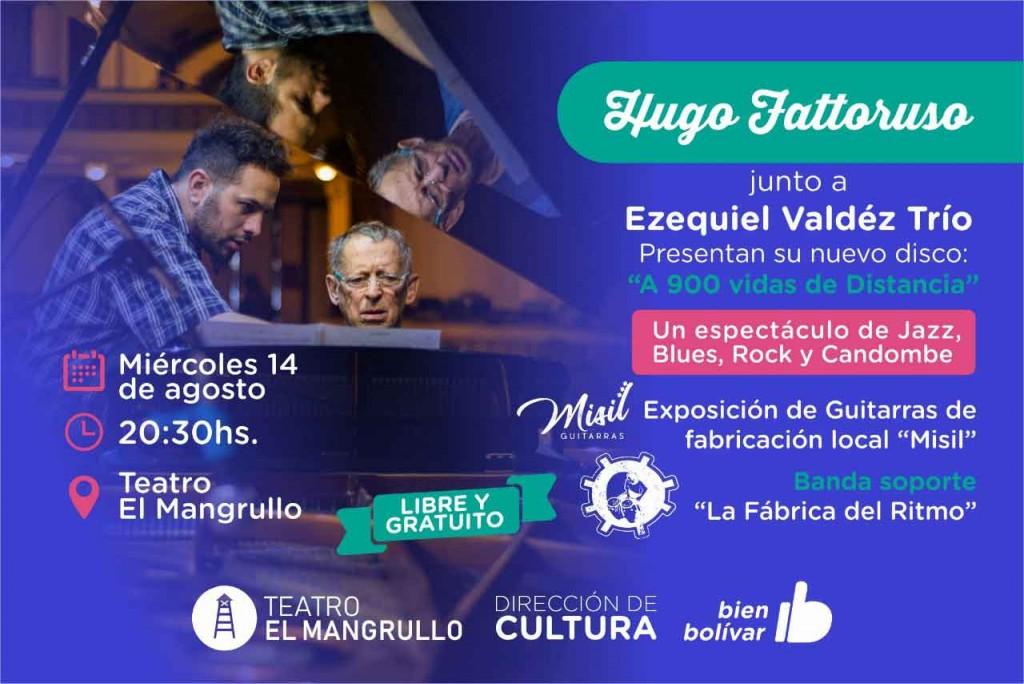 Hugo Fattoruso se presentará el Teatro El Mangrullo