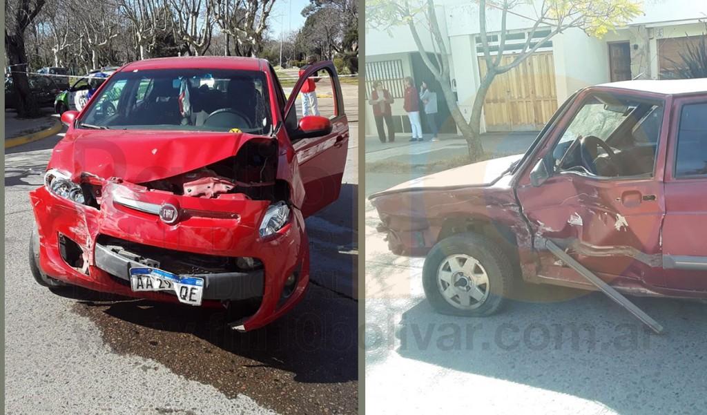Violento impacto en la intersección de Mitre y Alvarado; dos personas resultaron heridas